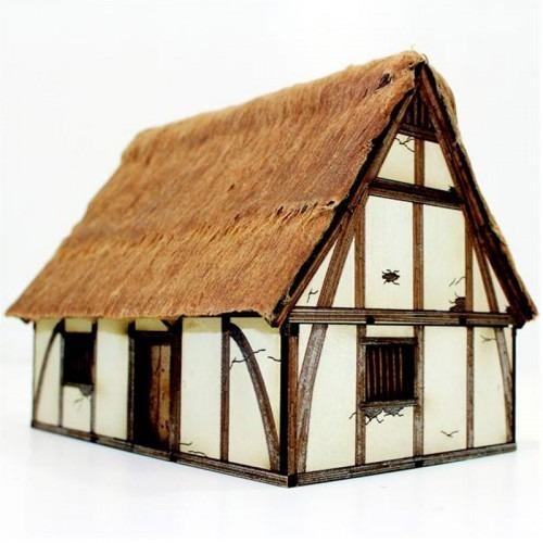 Maqueta De Casa Alta Medieval Para Miniaturas Madera 14 990 En