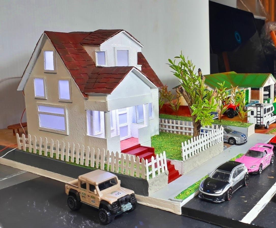 Maqueta Diorama Casa Toretto Para Autos Escala 1 64 1 995 00