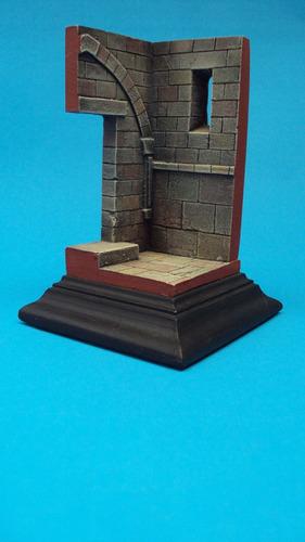 maqueta diorama, viñeta tipo medieval para figuras 1/35 1/32