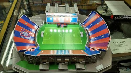 maqueta estadio 3d para armar con luces !cancha san lorenzo
