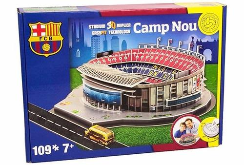 maqueta estadio barcelona 3d para armar - local y envios