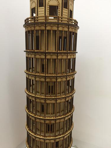 maqueta torre de pisa 48cm centro de mesa