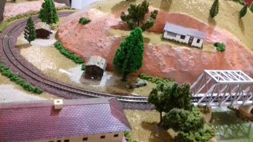 maqueta, tren eléctrico en escala n