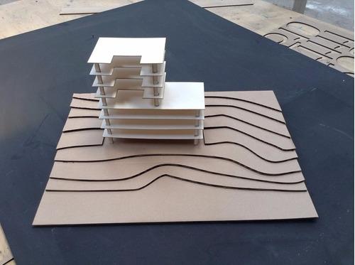 maquetas arquitectura corte laser mdf delivery cordoba envio