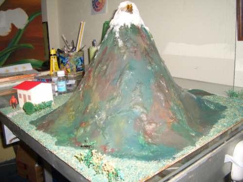 maquetas de volcanes