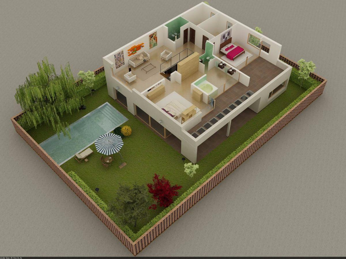Maquetas estilo casas en mercado libre for Casa con piscina para alquilar por dia
