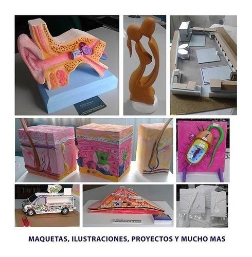maquetas, ilustraciones, proyectos para estudiantes maquetas