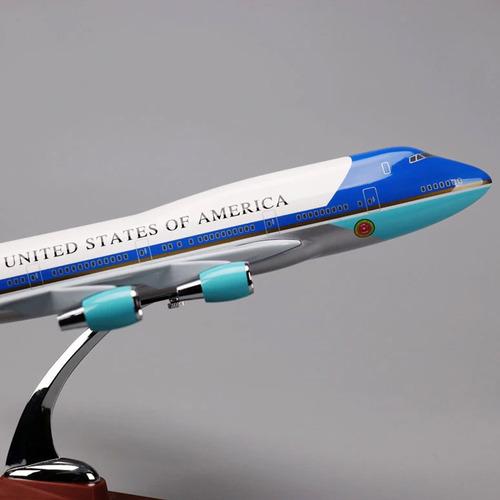 maquete avião resina boeing 747 air force one 47 cm - wf-a47