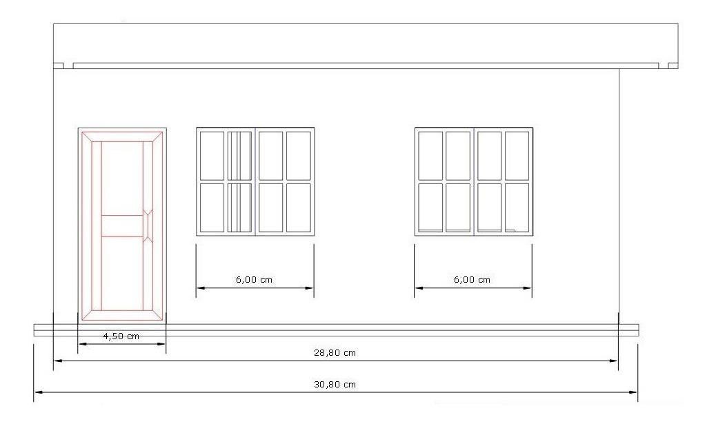 Maquete Casa Terrea Escala 1 20 R 120 00 Em Mercado Livre