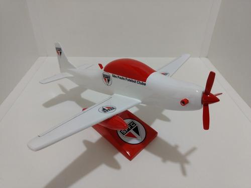 maquete de avião super tucano a-29 - time coração são paulo