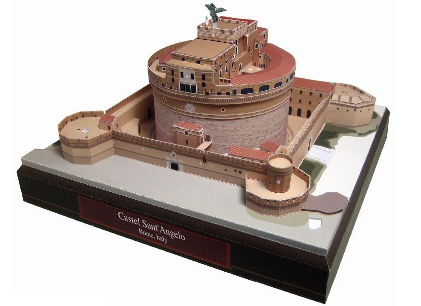 Maquete De Papel 3d Castelo Santo Angelo Itália R 790 Em