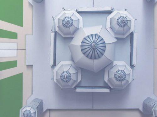 maquete de papel 3d - taj mahal, imprima, corte e cole