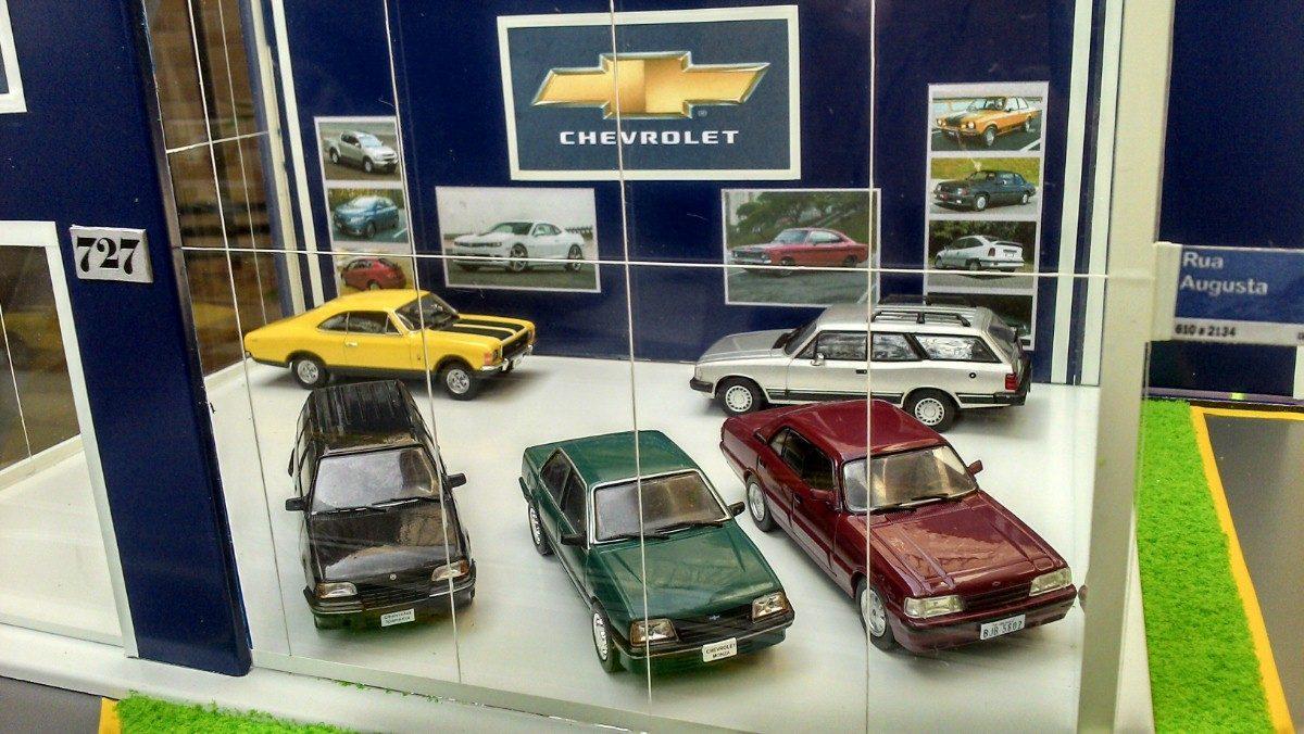 maquete diorama loja carros chevrolet escala 1 43 r 380 00 em mercado livre. Black Bedroom Furniture Sets. Home Design Ideas