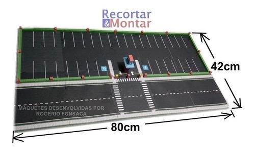 maquete estacionamento para destacar e montar esc.:1/64