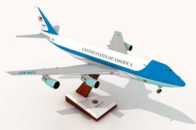 Moldes De Aviao Para Imprimir: Maquete Para Imprimir E Montar Do Avião 747 Air Force One