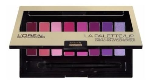 maquiagem loreal paris la palette / lip plum 02