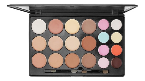 maquiagem paleta de base e corretivo miss rôse 20 cores