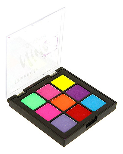 maquiagem paleta de sombras neon nine chandelle