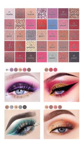 maquiagem paleta de sombras super pigmentada e vibrantes