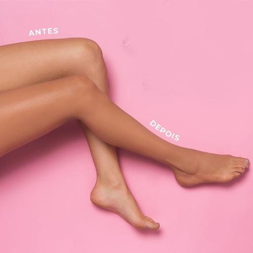 maquiagem pernas maravilhosas bege claro kit com 2 unidades