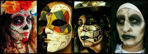 maquilladora artistica adultos -catrinas zombies vampiros fx