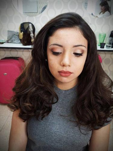 maquilladora  peinadora social profesional  automaquillaje