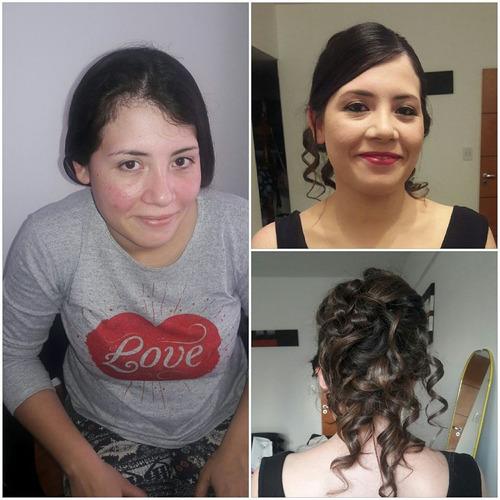 maquilladora profesional, peinados, novias,15 años,madrinas