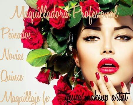 maquilladora profesional y peinado/novias/15años/eventos