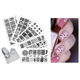 1957b82ea44ba Kit Plantillas Decoración De Uñas Stamping Plates Nail Art