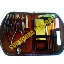 Set Manicure Pedicure Y Maquillaje 18 Piezas + Estuche Nuevo