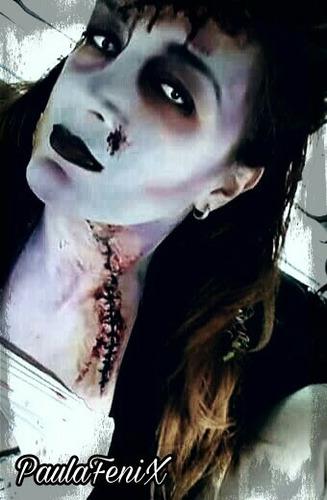 maquillaje artístico adultos,zombies,vampiros, drag queens