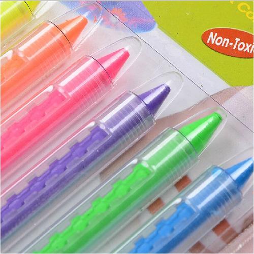 maquillaje artistico infantil adultos crayon normal y fluo