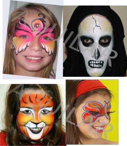 maquillaje artistico teatral ad rostro / bodypaint / cabello