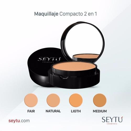 maquillaje compacto 2 en 1