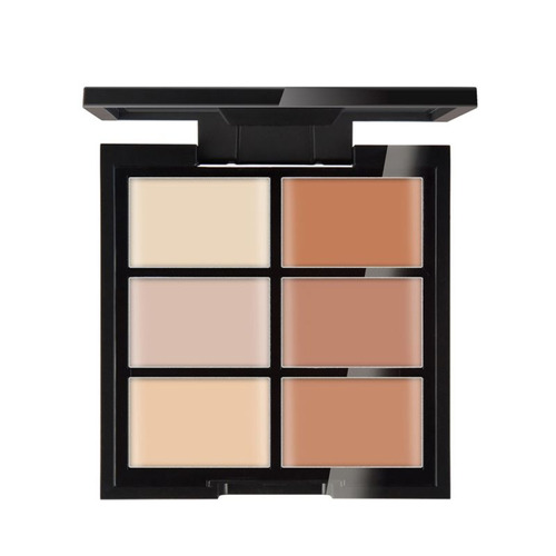 maquillaje contorno basico 6 colores crema marca concealer