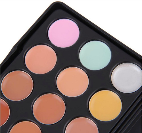 maquillaje corrector concealer 15 tonos paleta profesional
