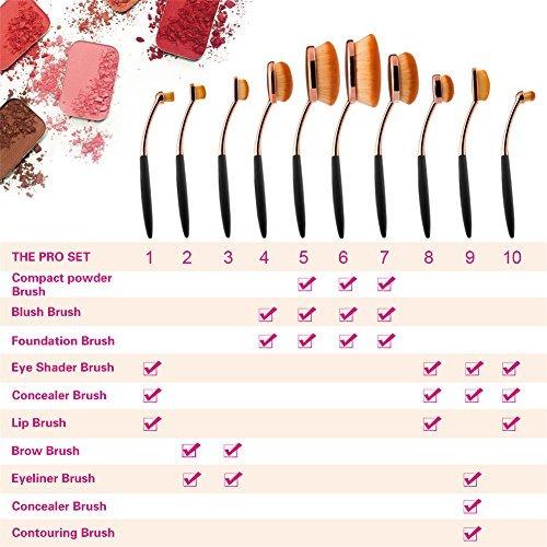 maquillaje corrector yoseng fundación óvalo powder brush se