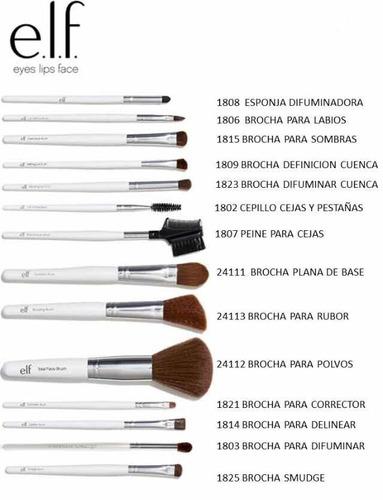 maquillaje elf corrector, polvo compacto, iluminador brochas
