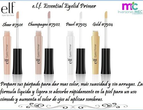 maquillaje elf, polvo compacto, primer, labial, corrector...