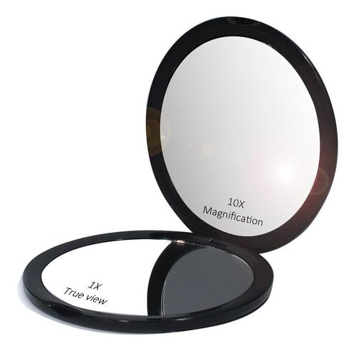 maquillaje espejo de bolsillo con un aumento de 10x glass pl