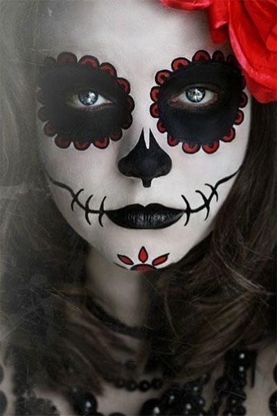 maquillaje halloween catrina de dia de muertos aplicacion - Maquillaje De Halloween