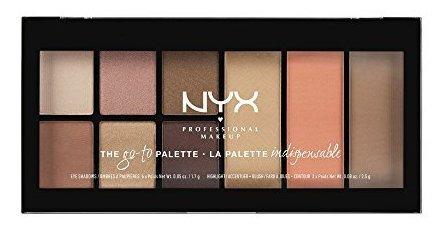 maquillaje profesional de nyx go-to palette, wanderlust, 0.5