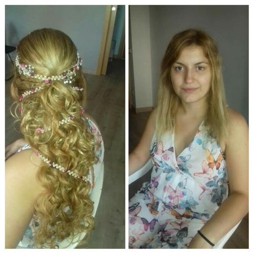 maquillaje y peinado  a domicilio para  novias, 15 años.