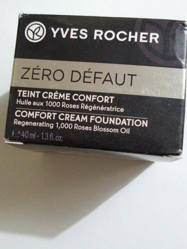 maquillaje zero default confortyves rochertextura en crema