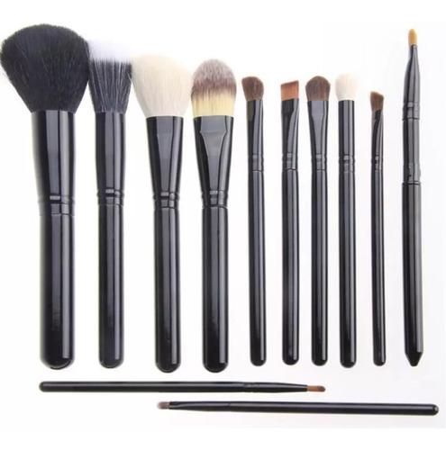 maquillaje12 brochas + portavaso + limpia brochas calidad