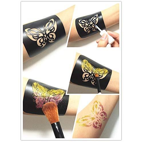 maquillajes kit de plantillas para tatuaje