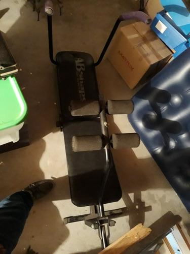 maquina abdominales cuerina negra poco uso