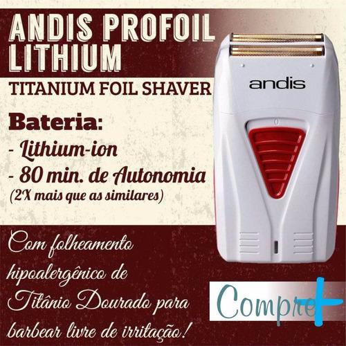 5b4699646 Maquina Acabamento Profoil Lithium Shaver Andis Barbeador - R$ 490 ...