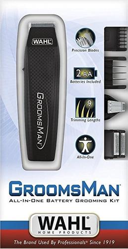maquina afeitadora wahl groomsman 14 pcs todo en uno