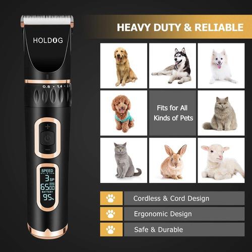 máquina afeitar para mascotas inalámbrico 3 velocidades 10pc